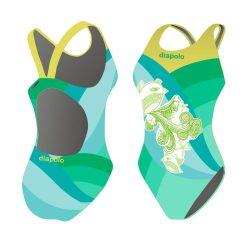 Mädchen Schwimmanzug - Bird mit breiten Trägern