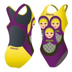 Mädchen Schwimmanzug-Matrjoska mit breiten Trägern