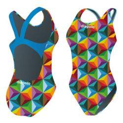 Mädchen Schwimmanzug - Cube mit breiten Trägern
