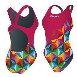 Mädchen Schwimmanzug - Cube wine mit breiten Trägern
