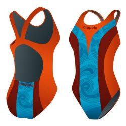 Mädchen Schwimmanzug - Khálo 1 mit breiten Trägern