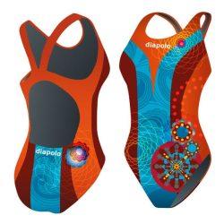 Mädchen Schwimmanzug - Khálo 2 mit breiten Trägern