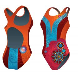 Mädchen Schwimmanzug - Khálo 3 mit breiten Trägern