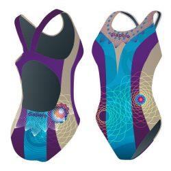 Mädchen Schwimmanzug - Khálo 4 mit breiten Trägern