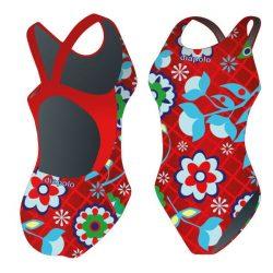 Mädchen Schwimmanzug - Khálo 5 mit breiten Trägern