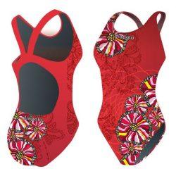 Mädchen Schwimmanzug - Bohemian Flowers 2 mit breiten Trägern