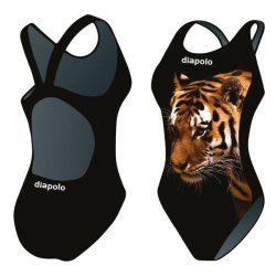 Mädchen Schwimmanzug-Tiger 1 mit breiten Trägern