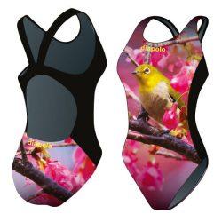 Mädchen Schwimmanzug-Yellow Bird mit breiten Trägern