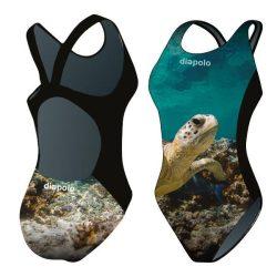 Mädchen Schwimmanzug-Turtle mit breiten Trägern