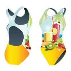 Mädchen Schwimmanzug - Cocktails mit breiten Trägern