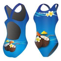 Mädchen Schwimmanzug-Copacabana mit breiten Trägern