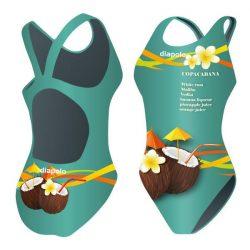 Mädchen Schwimmanzug - Copacabana 2 mit breiten Trägern