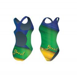 Mädchen Schwimmanzug-Brazil 1 mit breiten Trägern