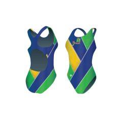 Mädchen Schwimmanzug-Brazil 2 mit breiten Trägern