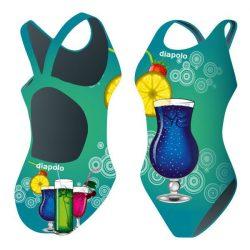 Mädchen Schwimmanzug - Cocktails 3 mit breiten Trägern