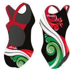 Mädchen Schwimmanzug - HUN 3 mit breiten Trägern