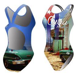 Mädchen Schwimmanzug - Cuba mit breiten Trägern