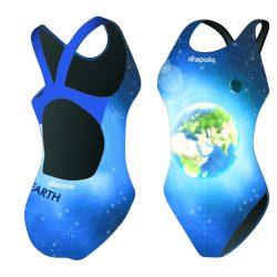 Mädchen Schwimmanzug - Earth mit breiten Trägern
