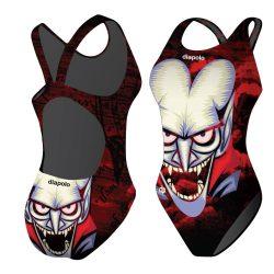 Mädchen Schwimmanzug - Halloween Vampire Face mit breiten Trägern