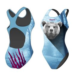 Mädchen Schwimmanzug - Bear Scratch mit breiten Trägern