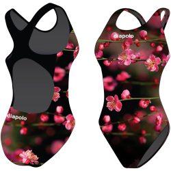 Mädchen Schwimmanzug - Blossom Flower mit breiten Trägern