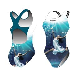 Mädchen Schwimmanzug-Sync ballerina mit breiten Trägern