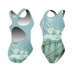 Mädchen Schwimmanzug - Sync ballet mit breiten Trägern