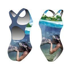 Mädchen Schwimmanzug-Sync mermaid kiss mit breiten Trägern