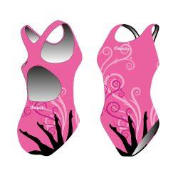 Mädchen Schwimmanzug - Sync legs2 (synchro 1) mit breiten Trägern
