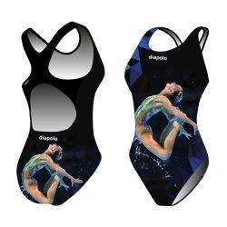 Mädchen Schwimmanzug - Sync flyer (synchro 5) mit breiten Trägern