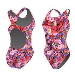 Mädchen Schwimmanzug - Flower garden mit breiten Trägern