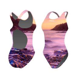 Mädchen Schwimmanzug-See mit breiten Trägern