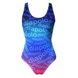 Mädchen Schwimmanzug-Diapolo Design 1 mit breiten Trägern