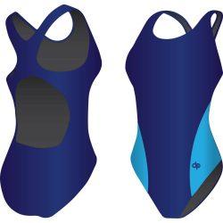Mädchen Schwimmanzug-Classic 1 mit breiten Trägern