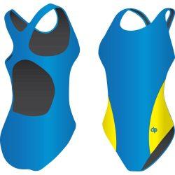 Mädchen Schwimmanzug-Classic 2 mit breiten Trägern