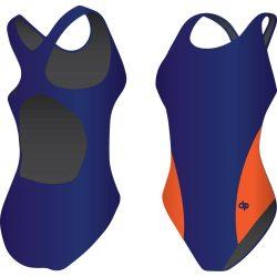 Mädchen Schwimmanzug-Classic 3 mit breiten Trägern