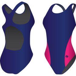Mädchen Schwimmanzug-Classic 4 mit breiten Trägern