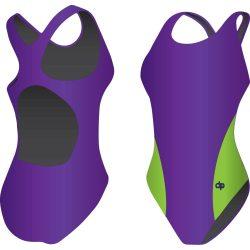 Mädchen Schwimmanzug-Classic 5 mit breiten Trägern