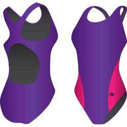 Mädchen Schwimmanzug-Classic 6 mit breiten Trägern