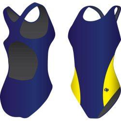 Mädchen Schwimmanzug-Classic 7 mit breiten Trägern