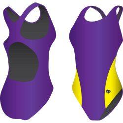 Mädchen Schwimmanzug-Classic 8 mit breiten Trägern