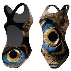 Mädchen Schwimmanzug - Eye mit breiten Trägern
