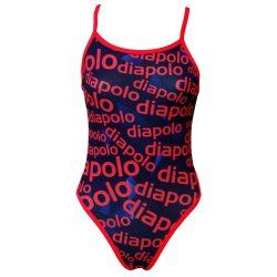 Mädchen Badeanzug - Diapolo Design 2 mit dünnen Trägernn