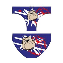 Herren Schwimmhose-Bulldog 2-blau