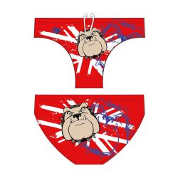 Herren Schwimmhose-Bulldog 2-rot