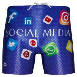 Herren Maxi Boxer-Social media