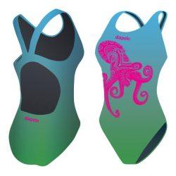Damen Schwimmanzug-Octopus mit breiten Trägern