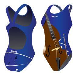 Damen Schwimmanzug - Cello 2 mit breiten Trägern