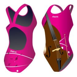 Damen Schwimmanzug - Cello 1 mit breiten Trägern