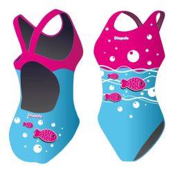 Damen Schwimmanzug-Little fish mit breiten Trägern